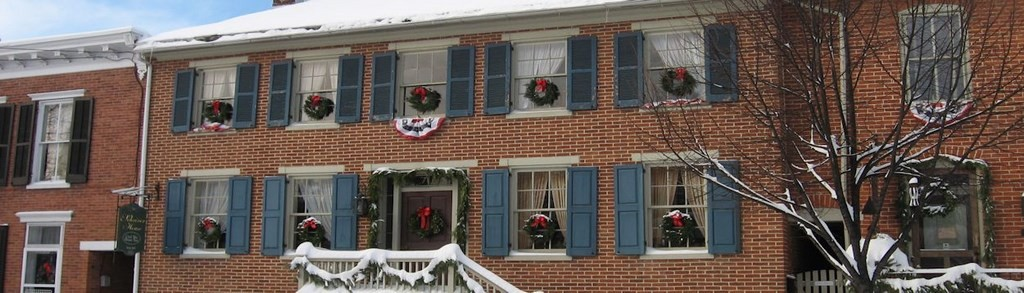 Shriver House at Christmas