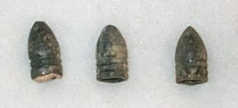 Confederate .58 caliber bullets